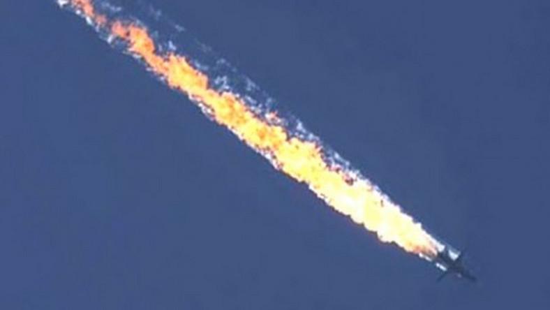 Rosyjski samolot Su-24 zestrzelony przez turecki myśliwiec F-16