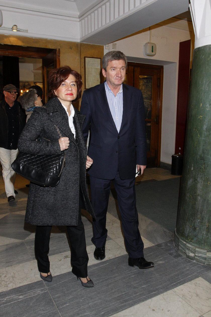 Jerzy Wenderlich z żoną