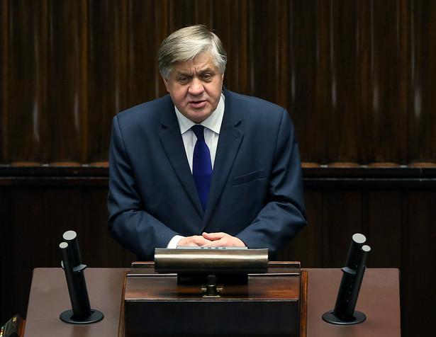 Minister rolnictwa Krzysztof Jurgiel podczas posiedzenia Sejmu.