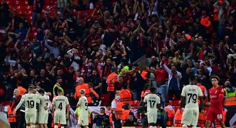 AC Milan were beaten at Anfield but now return to domestic matters with a trip to Juventus Creator: Paul ELLIS