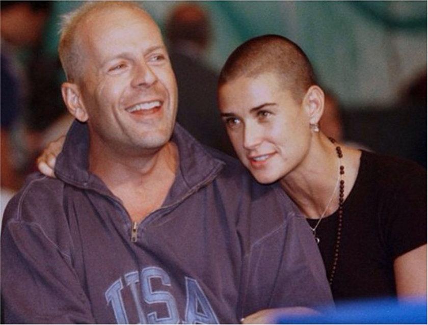 Demi Moore i Bruce Willis