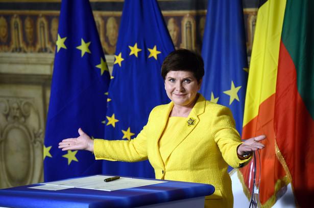 Beata Szydło podczas uroczystości upamiętniających 60. rocznicę podpisania Traktatów Rzymskich