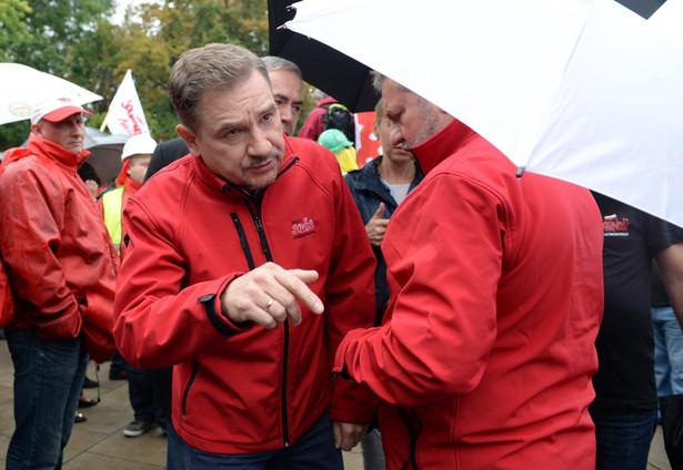 """Przewodniczący NSZZ """"Solidarność"""" Piotr Duda, PAP/Jacek Turczyk"""