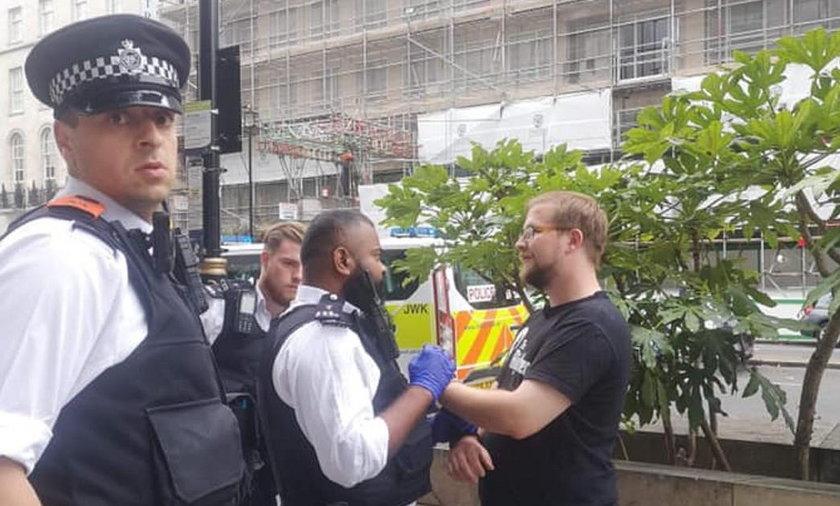 Anglia: Jakub Grygowski z KORWiN został aresztowany na proteście LGBT