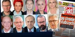 """""""Nie ma mowy o ataku na prezydenta""""; """"Dziennikarze mają wyświetlać prawdę o aktywności polityków"""" – znani Polacy wyrażają solidarność z dziennikarzami Faktu"""