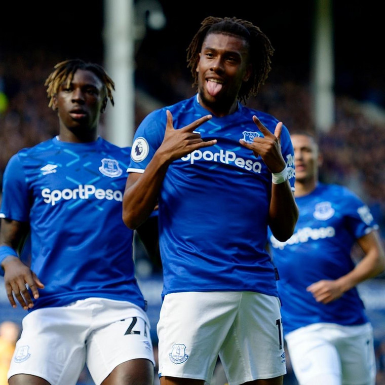 Alex Iwobi has scored two goals for Everton this season (Getty Images)