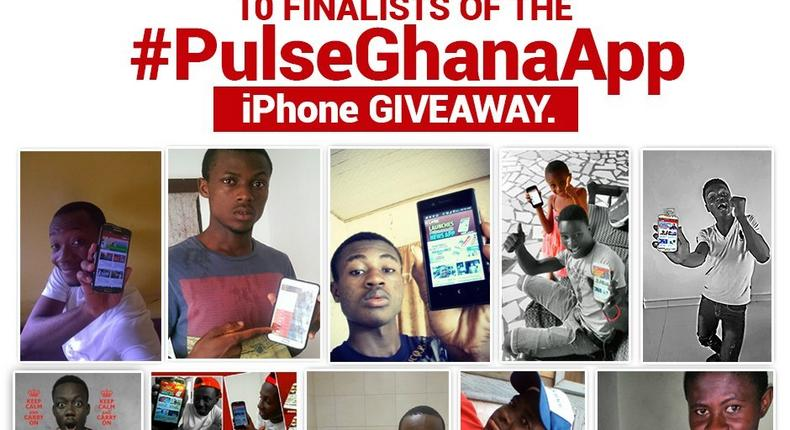 10 finalists of the #PulseGhanaApp iPhone 6+ Giveaway