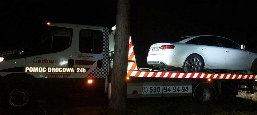 Auto znaleziono w lesie