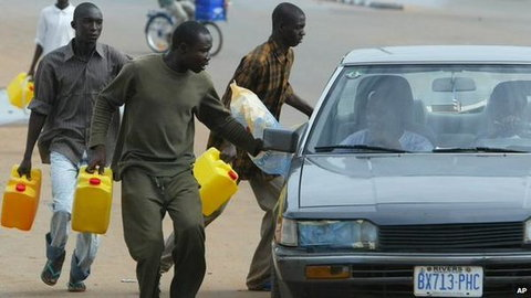 Resident groan over fuel scarcity in some communities. (Image used for illustrative purpose) [BBC]