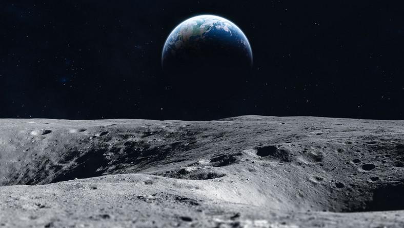 Widok z Księżyca na Ziemię