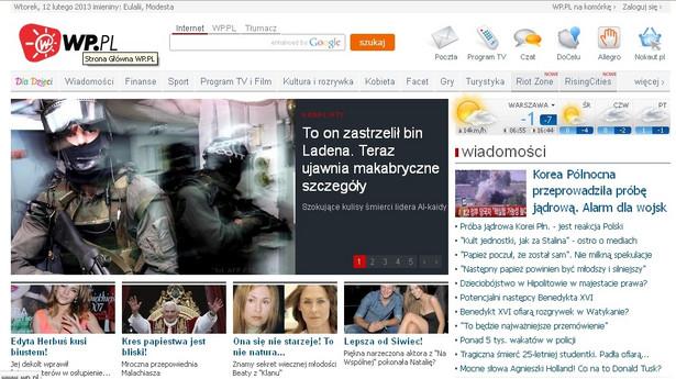 Portal Wirtualnej Polski - wp.pl, źródło: internet