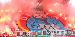 Oprawa ze świńskich ryjem na Legii! Czy UEFA znów ukarze polski klub?