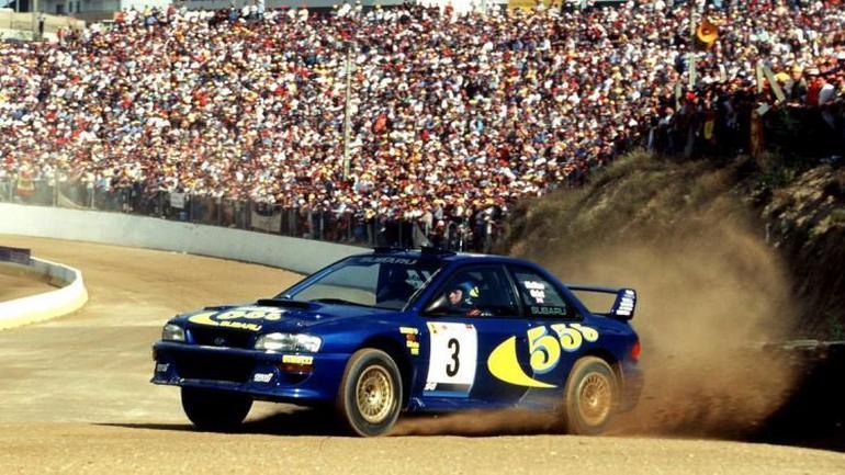 Colin McRae i Subaru Impreza 555