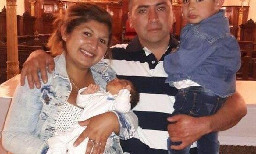 Carla z mężem i synami