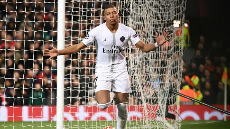 Kylian Mbappe scored PSG's second goal in a 2-0 win at Manchester United on Tuesday