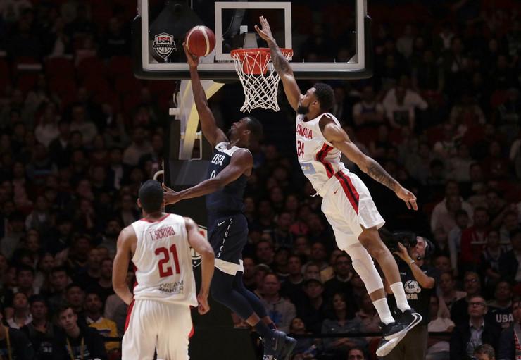 Košarkaška reprezentacija SAD, Košarkaška reprezentacija Kanade