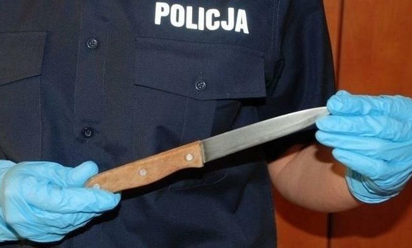 Klient wystraszył nożem pracowników banku
