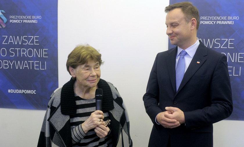 Zofia Romaszewska i Andrzej Duda