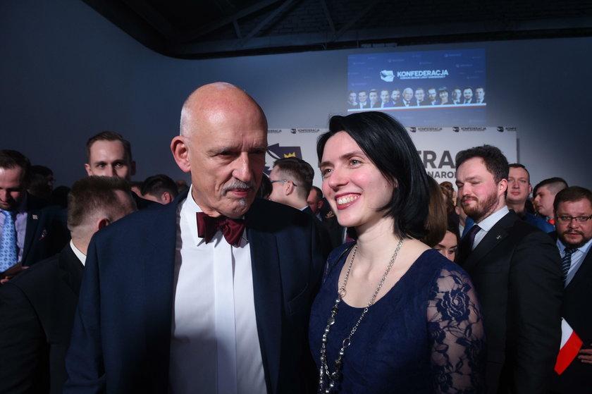 Janusz Korwin-Mikke i Dominika Korwin-Mikke