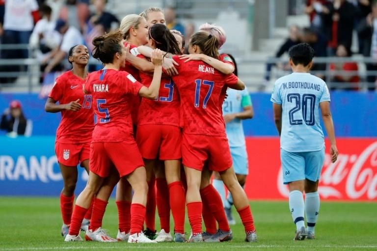 The Americans' exuberant celebrations were criticised in some quarters