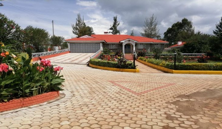 The house in Eldoret town where police seized the fake cash