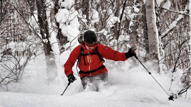 Rafał Urbanelis, jazda między drzewami na Hokkaido