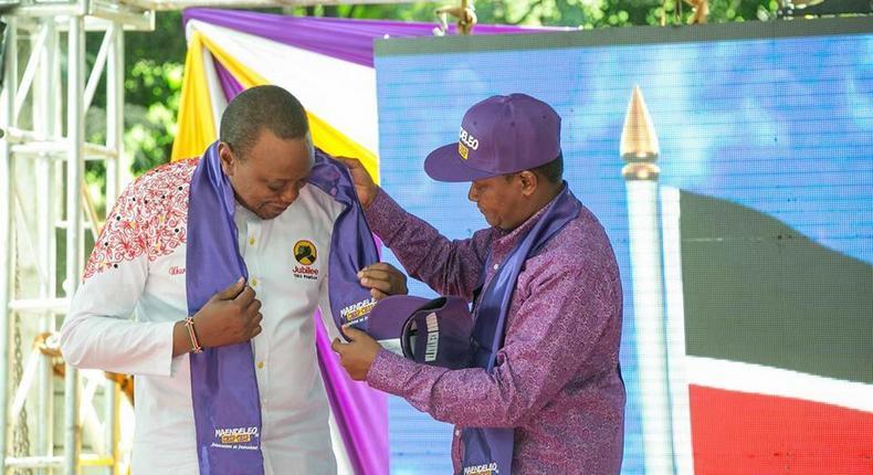 President Uhuru Kenyatta and Machakos Governor Alfred Mutua