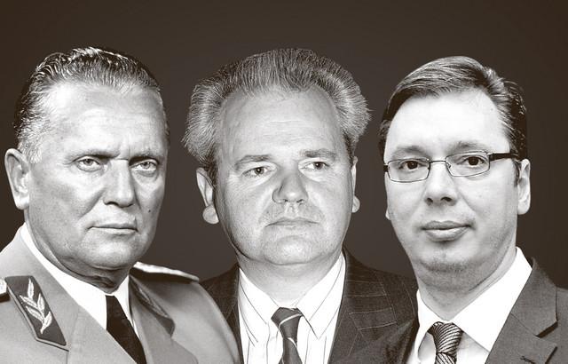 Josip Broz Tito, Slobodan Milošević i Aleksandar Vučić