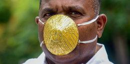 Zrobił sobie maseczkę ze złota. Wierzy, że ochroni go przed koronawirusem
