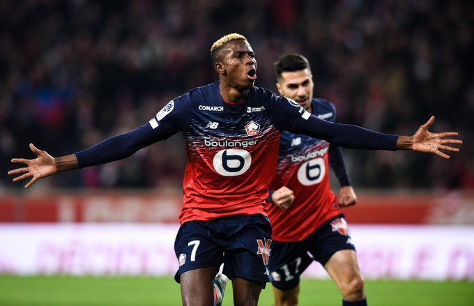 Victor Osimhen scored 18 goals in all competitions for Lille (Twitter/Lille)