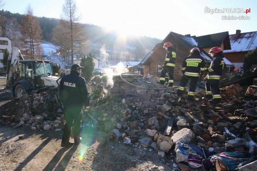 Wybuch gazu w domu przy Leszczynowej w Szczyrku