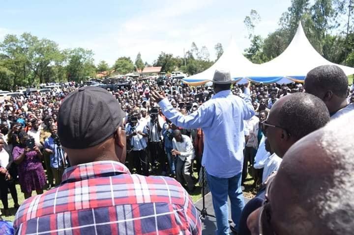 Image result for Raila Heckled in Muhoroni