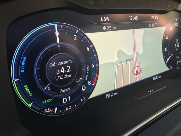 VW Golf GTE. Testowe zużycie paliwa