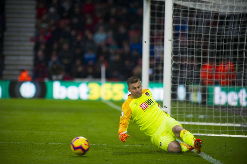 Bournemouth v West Ham United Premier League Artur Boruc of Bournemouth keeps the ball in play durin