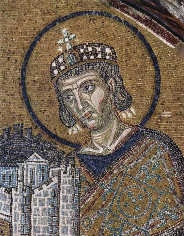 Konstantin Veliki, mozaik iz sv. Sofije u Carigradu