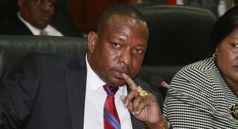 Nairobi Governor Mike Sonko during a public hearing