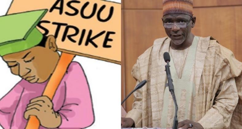 Minister of Education, Mallam Adamu Adamu says ASUU strike may soon end.   ASUU Strike: Lecturers deny receiving N163bn from government sFektkqTURBXy9mMGY1ZmE4NzZlZjliZTRkMzY1MWZjNTg4MzQxOWMyNi5qcGVnkpUCzQMUAMLDlQIAzQL4wsM