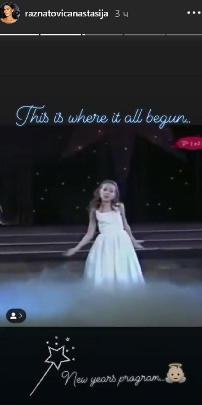 Mala Anastasija u novogodišnjem programu