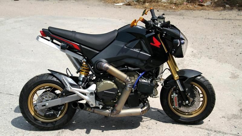 Mod Dam, czyli Honda MSX125 z silnikiem Ducati 1199 Panigale R