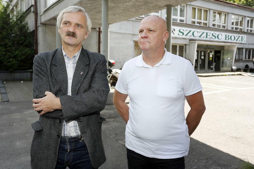 Od lewej: Piotr Bienek, Solidarność, Szczepan Kasiński, Sierpien 80