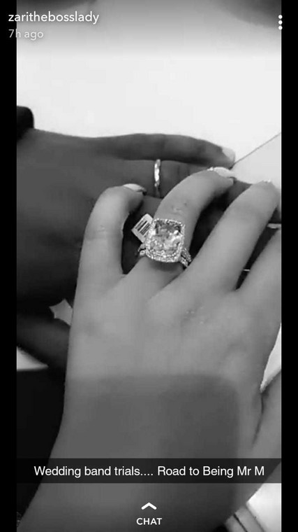 Zari Hassan engagement ring