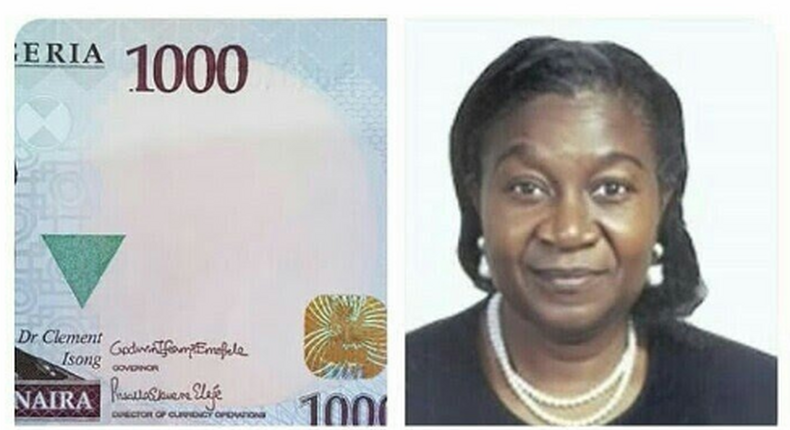 Mrs Priscilla Ekwere Eleje is the first female Director of currency at CBN as well as the first woman to have her signature on the N1,000 note (twitter/TheWCommunity)