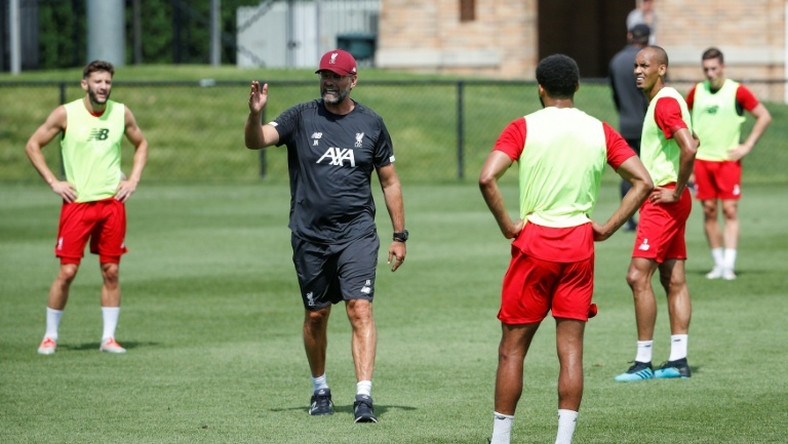 Liverpool manager Jurgen Klopp puts his players through their paces ahead of the club's US tour opener on Friday