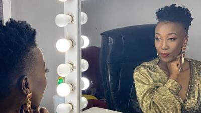 Singer Wahu Kagwi in mourning