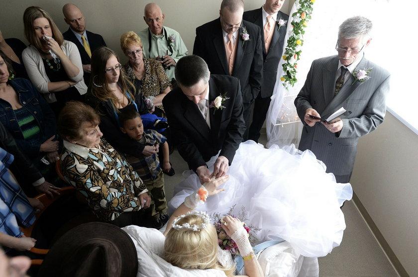 Oni wzięli ślub przed śmiercią
