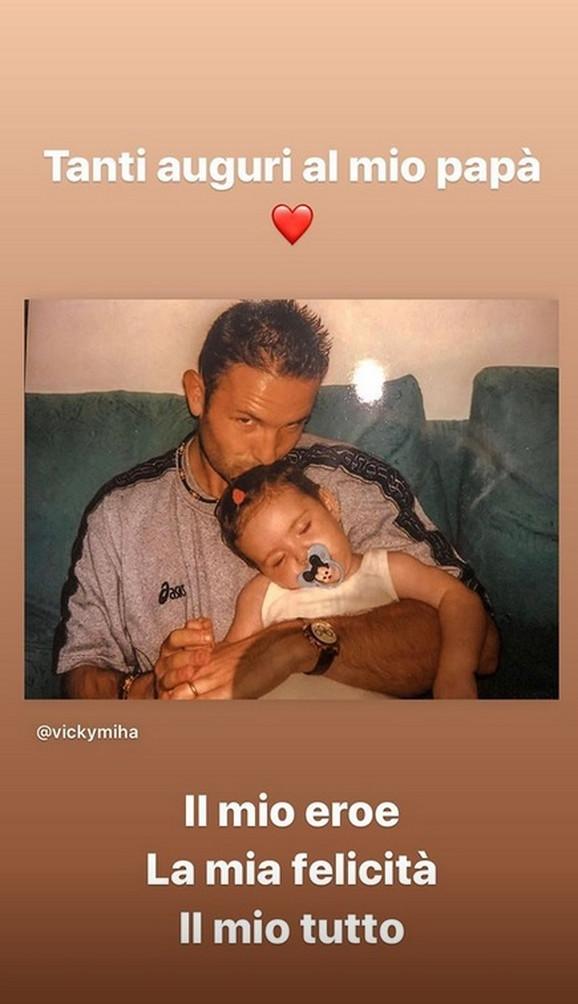 Siniša Mihajlović sa ćerkom Viktorijom