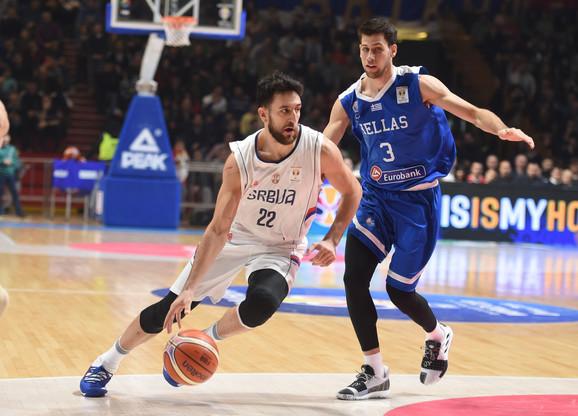 Vasilije Micić u meču protiv Grčke