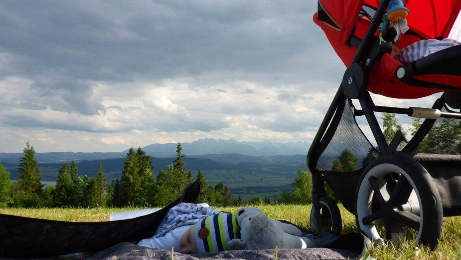 Wózek w górach