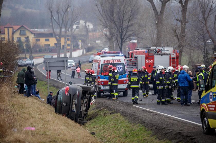 Groźny wypadek w okolicach Świebowic