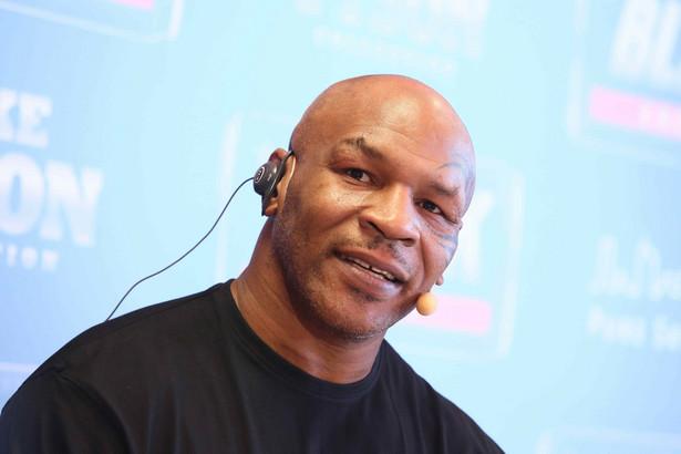 Mike Tyson podczas promocji napoju Black w Polsce